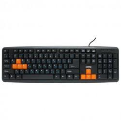Клавиатура USB Dialog Standart KS-020U мембранная, 104 клавиши, Black/Orange