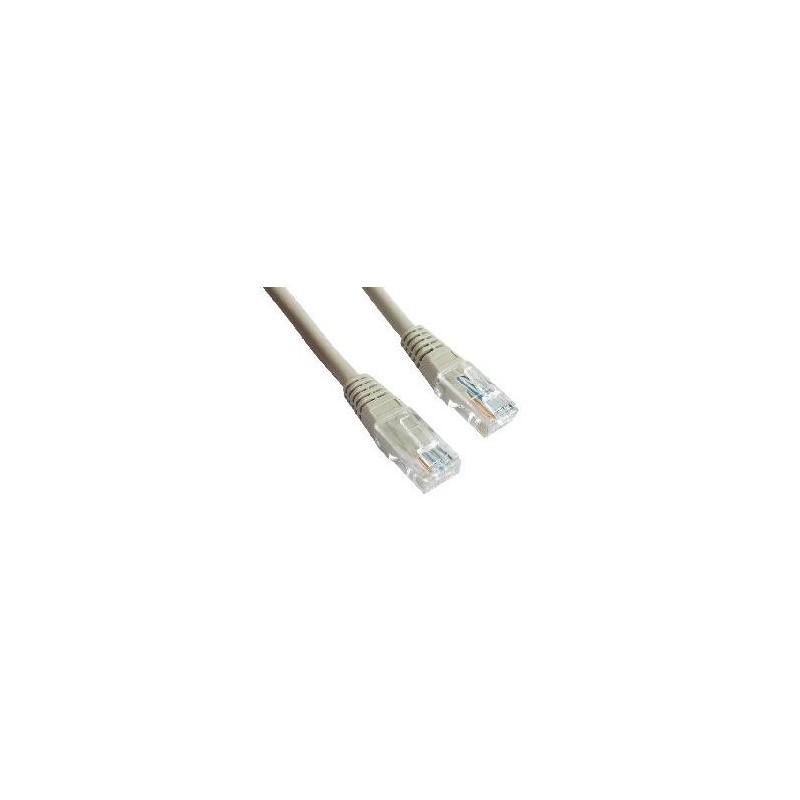 Патч-корд   0.25m кат 5E UTP серый