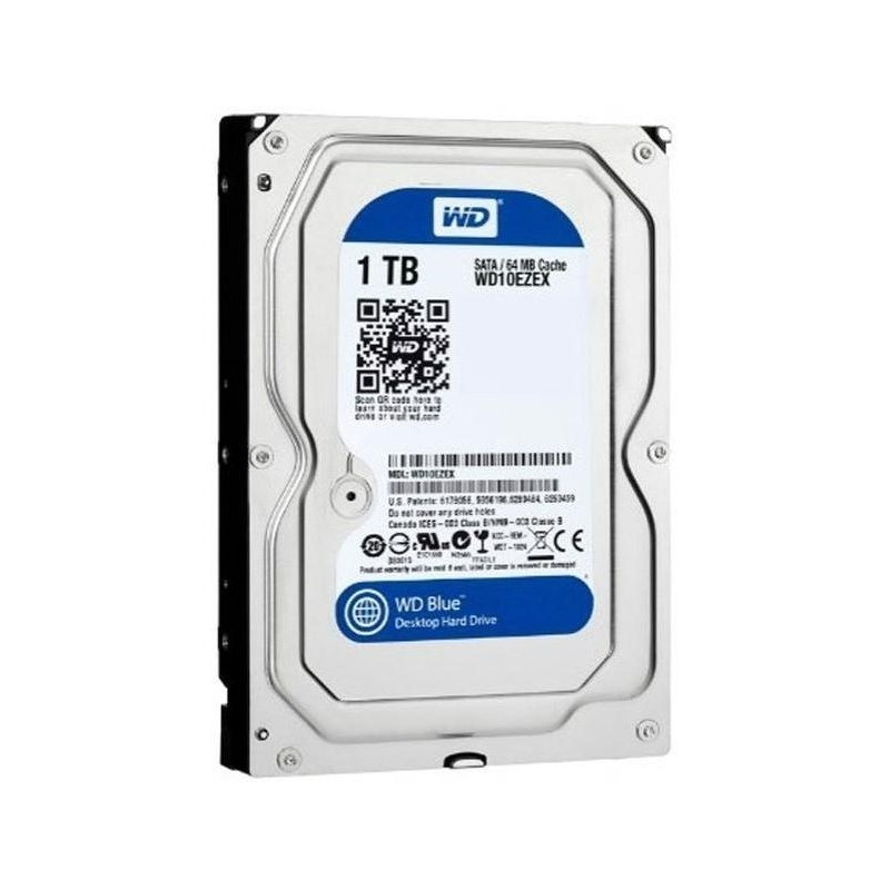 Жесткий диск HDD SATA-III 1,0Tb WD WD10EZEX Blue,64Mb