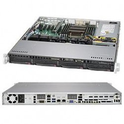 Supermicro SuperServer 1U 5018R-M no CPU(1) E5-2600/1600v3/v4 no memory(8)/ on board C612 RAID 0/1/10/ no HDD(4)LFF/ 2xGE/ 1xFH/ 1x350W Gold/ Backplane 4xSATA/SAS