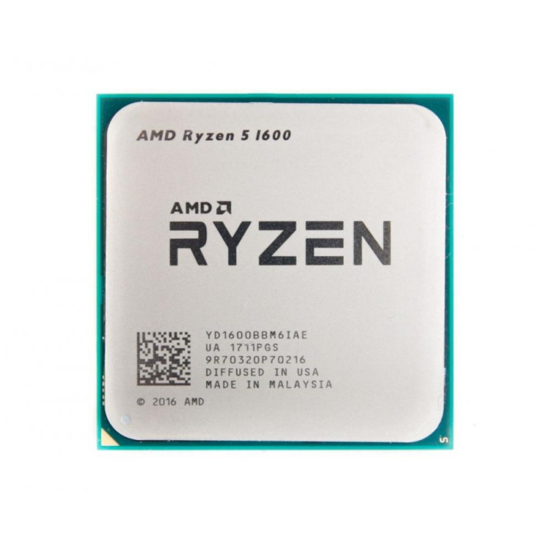 Процессор AMD Sock AM4 Ryzen 5 1600 (6ядер/12потоков*3,2GHz,19Mb,65Вт) oem