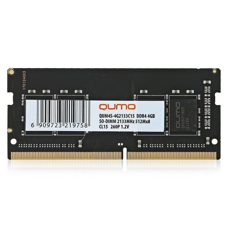 Модуль памяти SO-DDR4 4096Mb PC17000/2133MHz QUMO (QUM4S-4G2133С15) 1.2v
