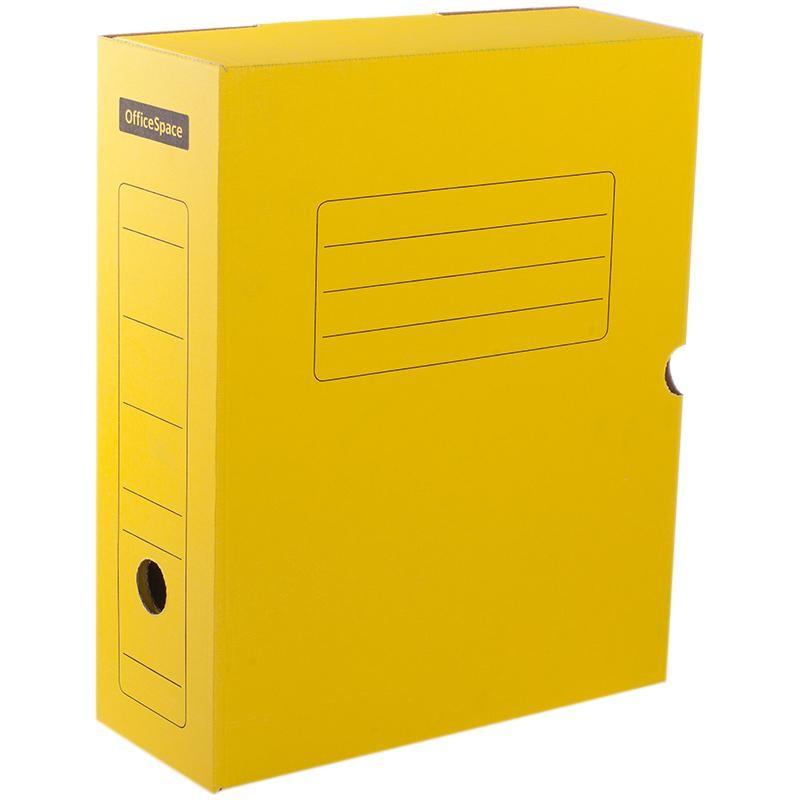 Короб архивный 10см. Спейс с клапаном, желтый (225409)
