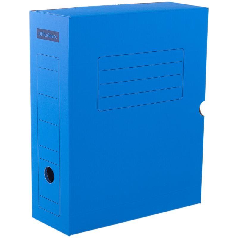 Короб архивный 10см. Спейс с клапаном, синий (225408)