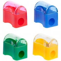 Точилка Спейс 1 отверстие, пластиковая, контейнер (SHP801 2002)
