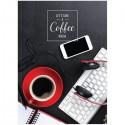 """Бизнес-блокнот Спейс А4 80л. """"Офис. Coffee"""", 5-ти цветный блок (ББ4т80ц 13840)"""