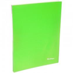 """Папка с боковым прижимом BERLINGO """"Neon"""", 17мм, 700мкм, неоновая зеленая  ACp 01802"""