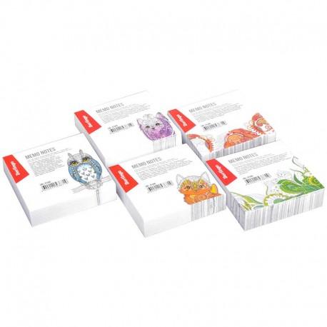 Блок для записей BERLINGO 8,5*8,5 200л. декоративный (LNn 01600)