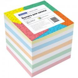 Блок для записей Спейс 9*9*9см. цветной на склейке (КБ9-10Цп/162003)