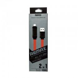 USB кабель Lightning/micro REMAX Bamboo RC-027t red