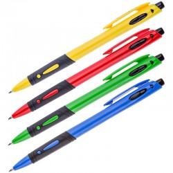 Ручка шариковая Спейс 0,7мм., автоматическая, синяя, ассорти (BPRCL168 1314)
