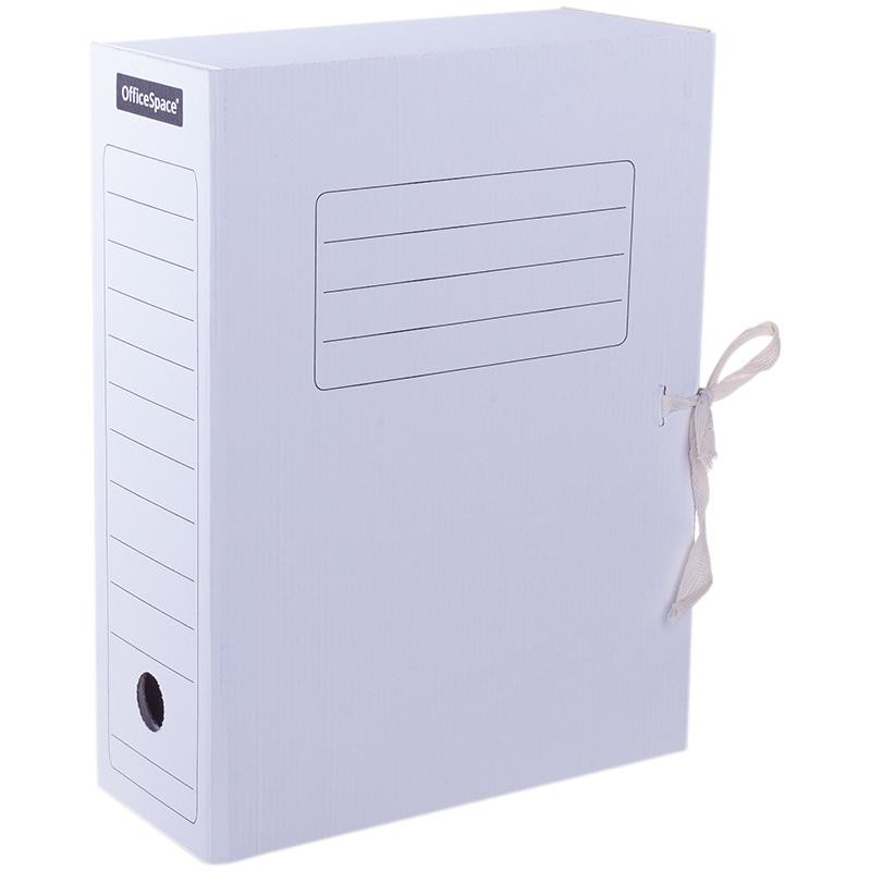 Короб архивный 10см. Спейс завязки, белый (225435)