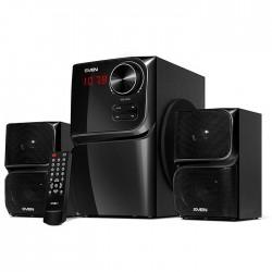 Актив.колонки 2.1 Sven MS-305 40Вт, Bluetooth, FM, SD/USB, дисплей, ПДУ, питание от сети, MDF, Black