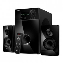 Актив.колонки 2.1 Sven MS-2100 80Вт, FM, SD/USB, ПДУ, питание от сети, MDF, Black
