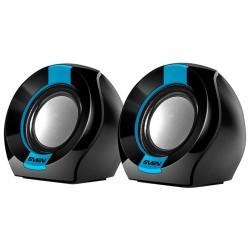 Актив.колонки 2.0 Sven 150 5Вт, питание от USB, пластик, Black/Blue