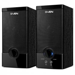 Актив.колонки 2.0 Sven SPS-603 6Вт, питание от USB, MDF, Black