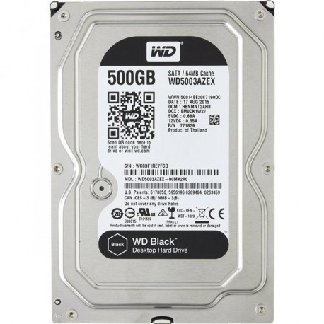 Жесткий диск HDD SATA-III  500Gb WD WD5003AZEX Black,7200,64Mb