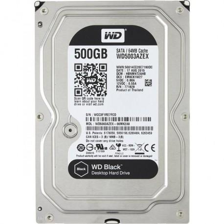 Жесткий диск HDD SATA-III  500Gb WD WD5003AZEX Black,7200,64Mb