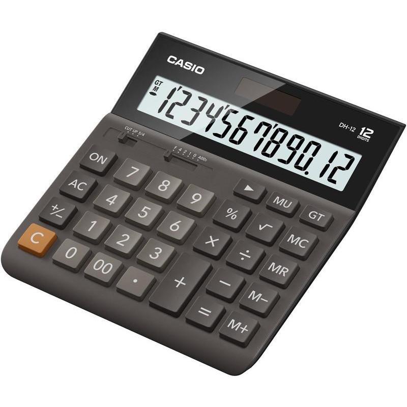 Калькулятор CASIO DH-12-BK-S-EP  12 разрядов чёрнокоричневый