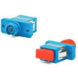 Проходной адаптер оптический Hyperline FA-P11Z-FC/SC-N/RD-BL, SC-FC/UPC (SM), Simplex, синий