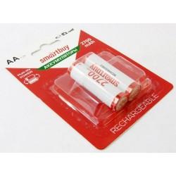 Аккумуляторы Ni-MH AA Smartbuy 2700mAh/1.2в блистер 2 шт. (SBBR-2A02BL2700)