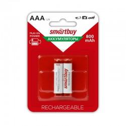 Аккумуляторы Ni-MH AAA Smartbuy 800mAh/1.2в блистер 2 шт. (SBBR-3A02BL800)