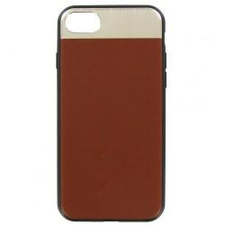 Накладка для iPhone 7/8 Dotfes G03 Aluminium Alloy Nappa leather Case brown
