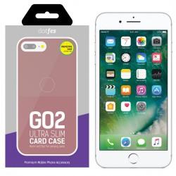 Накладка для iPhone 7/8 Plus Dotfes G02 Carbon Fiber Card Case rose gold