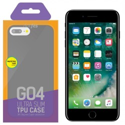 Чехол силиконовый для iPhone 7/8 Plus Dotfes G04 Ultra Slim TPU Case trans-black