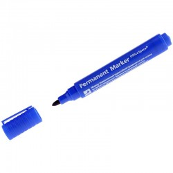 Маркер перманентный OfficeSpace 2мм., пулевидный, синий (PM 270)