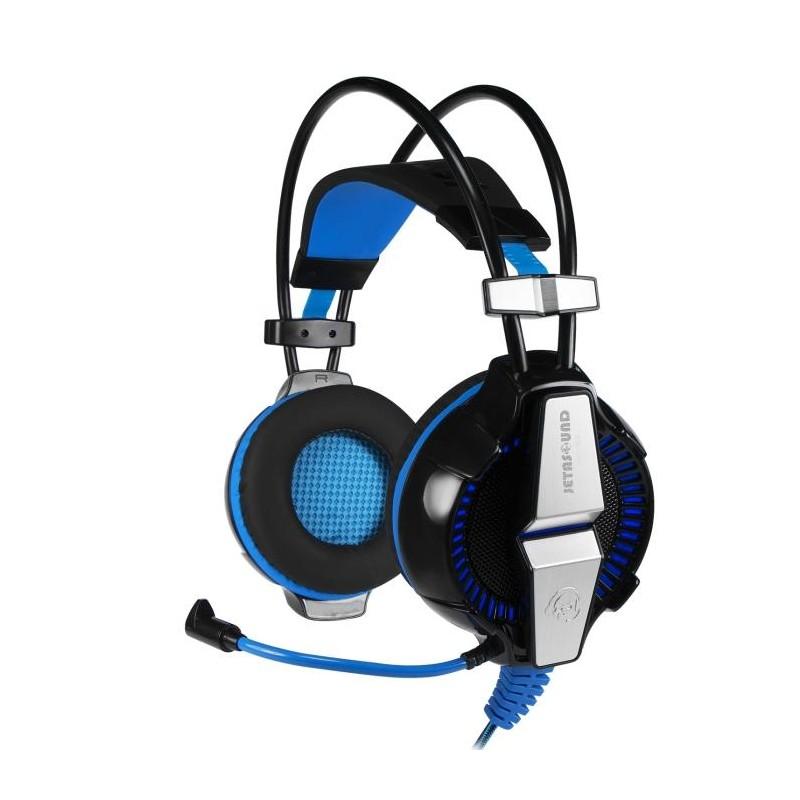 Игровая гарнитура Jet.A GHP-400 мониторные, 32Ом, 112дБ, кабель 2.2м, Black/Blue