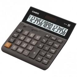 Калькулятор CASIO DH-16-BK-S-EH 16 разрядов чёрно/коричневый
