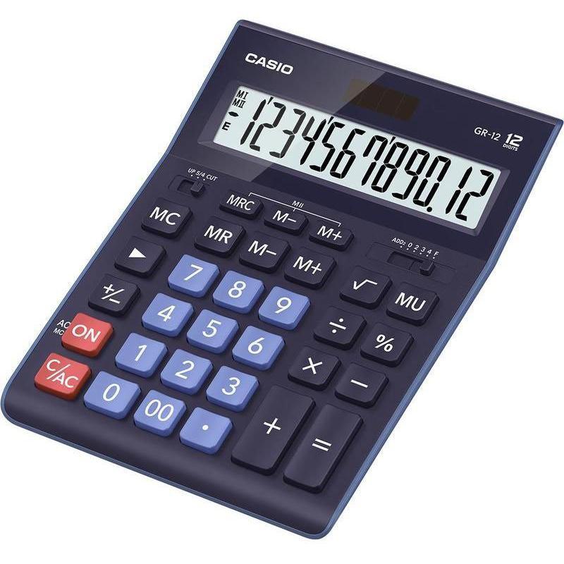 Калькулятор CASIO GR-12-BU-W-EP 12 разряд. DP синий