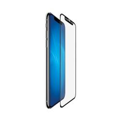 Защитное стекло для iPhone X/XS с цветной рамкой (fullscreen+ fullglue) (DF iColor-14) (black)