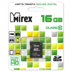 Карта памяти SDHC 16Gb Mirex Class10 (13611-SD10CD16)