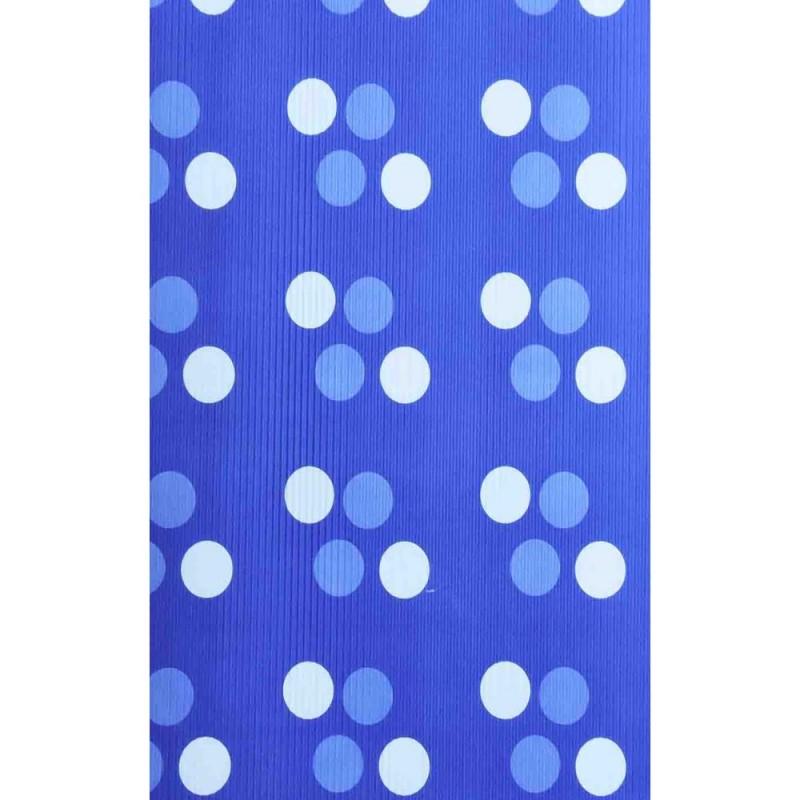 """Бумага упаковочная подарочная гофрированная 50*70 """"Круги на синем"""""""