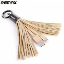 USB кабель Lightning REMAX Tassels Ring RC-053i gold