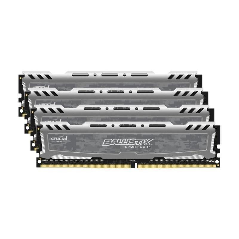 Модуль DIMM DDR4 16384Mb PC19200 2400MHz Crucial BLS4C4G4D240FSB (4x4Gb)