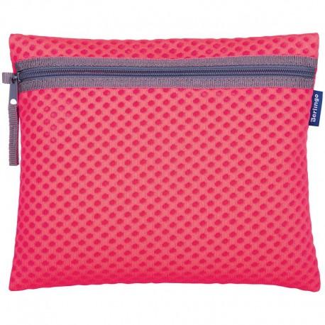 """Папка для тетрадей А5 Berlingo 1 отделение, """"Color Zone"""", розовый, ткань, на молнии (PP06201)"""