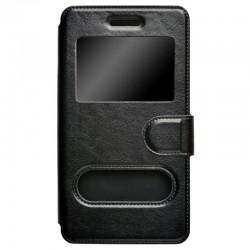 """Чехол-книжка для телефонов 5"""" skinBOX silicone slide 5.0 черный (T-S-U50-003)"""