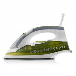 Утюг Galaxy GL 6109 White/yellow (2200Вт,паровой удар,керамика)