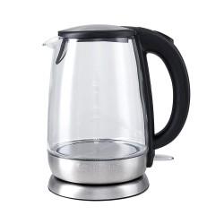 Чайник Kitfort КТ-619 Silver (2200Вт,1.7л,стекло,закрытая спираль)