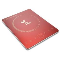 Плита настольная Kitfort КТ-110-4 Red 2200Вт, конфорок-1, упр. сенсор.