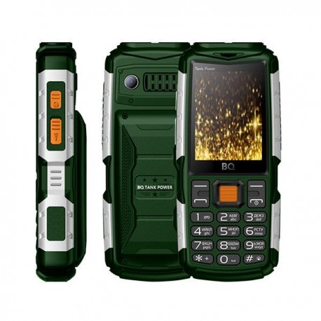 b965473d0a09 Сотовый телефон BQ BQ-2430 Tank Power GreenSilver (2sim/2.4
