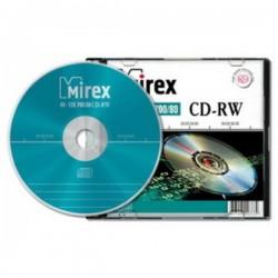 Диск CD-RW 5шт Mirex 700Mb 4-12x Slim case (UL121002A8F)