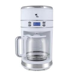 Кофеварка Kitfort КТ-704-1 White (1000Вт,1.5л,капельная,тип кофе: молотый)