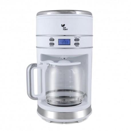 Кофеварка Kitfort КТ-704-1 White 1000Вт, 1.5л, капельная, тип кофе: молотый