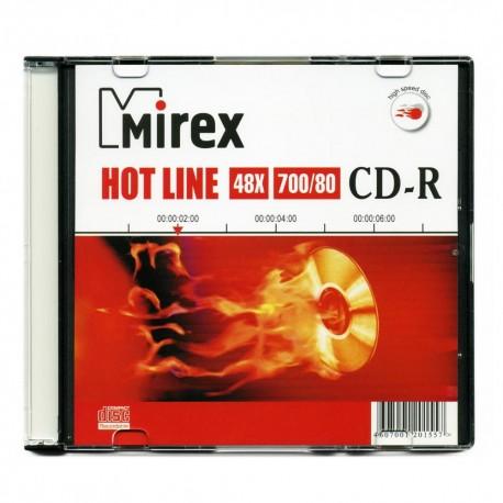 Диск CD-R 5шт Mirex Hotline 700Mb 48x Slim case (UL120050A8F)