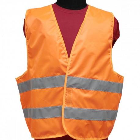 Жилет сигнальный Tplus 48-50 размер, класс защиты 2, ГОСТ 12.4.281-2014 (оранжевый)