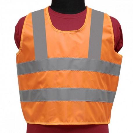 Жилет сигнальный светоотражающий Tplus детский, возраст 7-12 лет, класс защиты 2, ГОСТ (оранжевый)